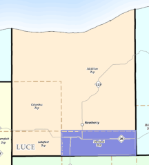 Luce County Map